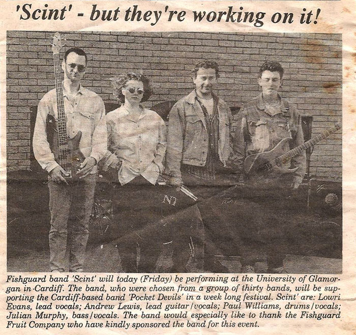 Newspaper clip from the Fishguard County Echo sometime in the 90's