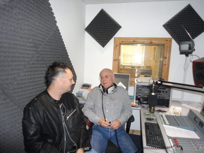 Meeting with BB Skone at Radio Pembrokeshire