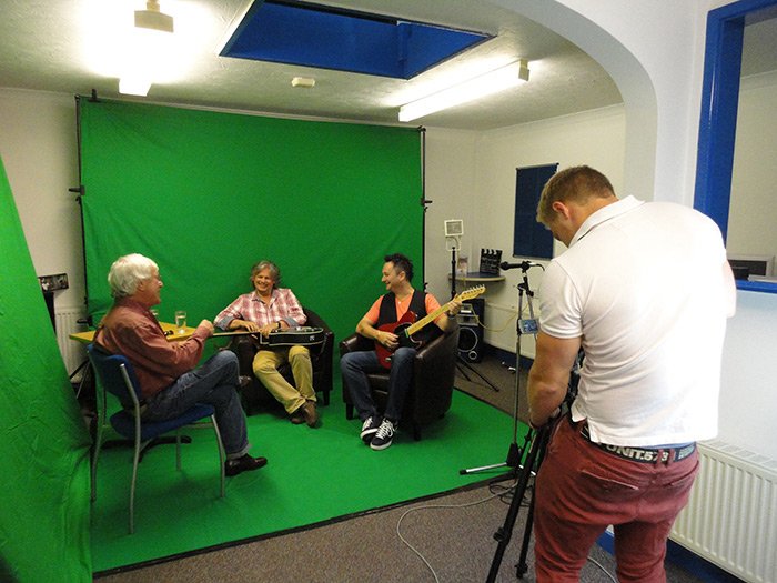 Behind the Scenes of Julian's first TV Interview with Marc Davies and BB Skone - 6th August 2013