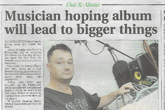 Interview in Carmarthen Journal 14th September 2011